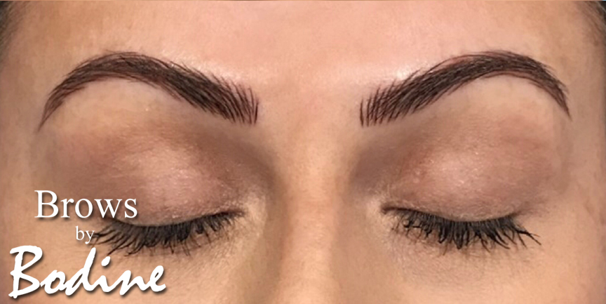 After Microblaing- Brows By Bodine, DFW