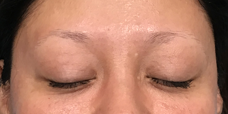 Before Microblaing- Brows By Bodine, Plano