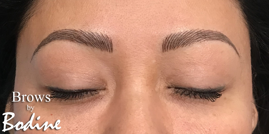 After Microblaing- Brows By Bodine, Plano