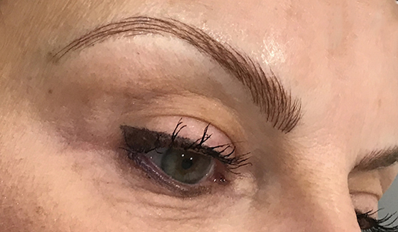 Freshly microbladed brows
